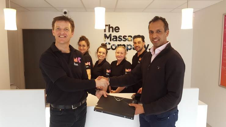 The Massage Company's first UK franchisee Taran Bassi