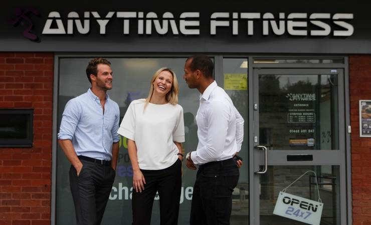 Anytime Fitness franchise - smiling group of people