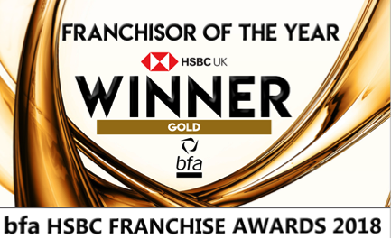 Winner bfa Franchisor of the Year award 2018