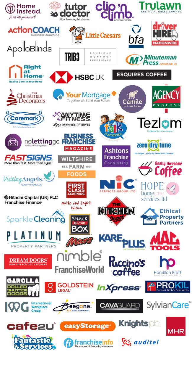 The National Franchise Exhibition Exhibitor List