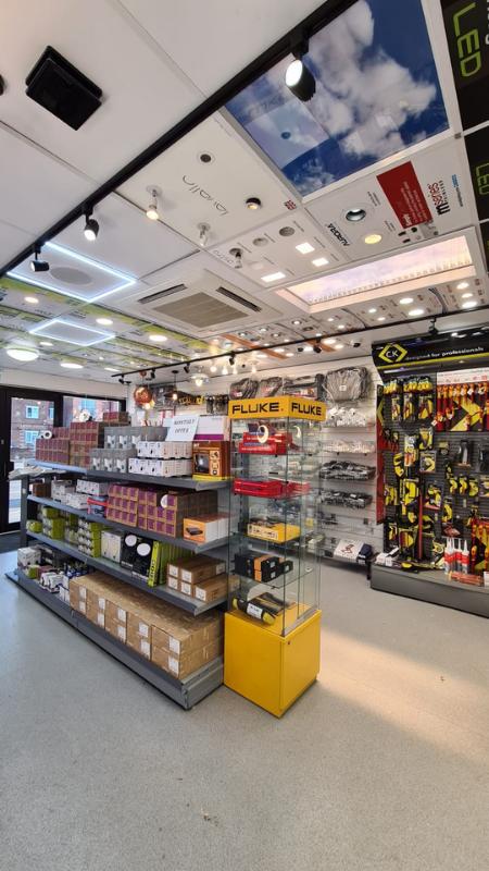 Store interior vertical