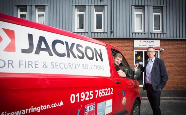 Jackson Fire & Security van